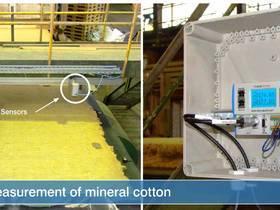 激光位移传感器用于矿物棉厚度测量